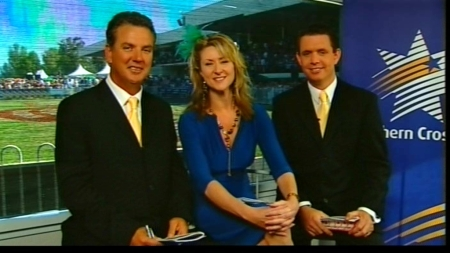 Mike Frame, Alison Drower and david Honke waiting for a race caller