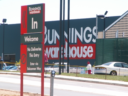 Bunnings Belconnen Carpark Entrance