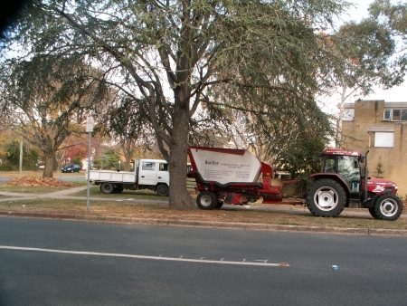 2006 Autumn Cleanup in Canberra: Leaf cleaners