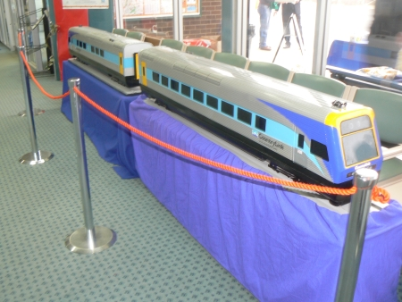 Model train at the Canberra Railway Station