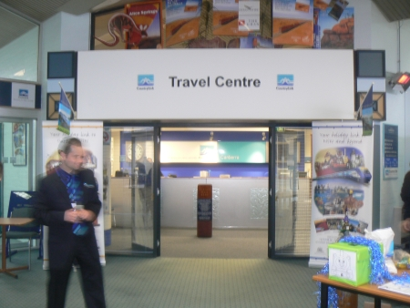 The refurbished Travel Centre of the Canberra Railway Station