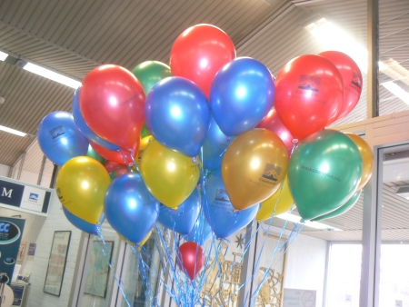 Balloons at the Canberra Railway Station