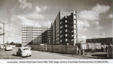 Currong Apartments under construction, preumably 1959