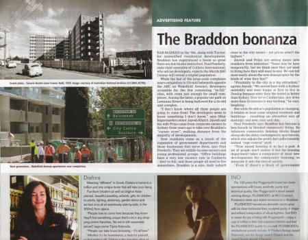 The Braddon article on Page 10 of City News, January 25 2007