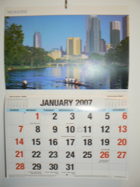 Calendar without Glasses from three metres