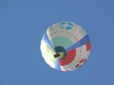 Credit Unions prior to Service One Members Banking hot air balloon, Canberra, January 28 2007