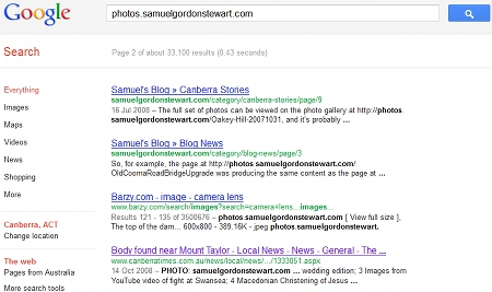 Screenshot of Google Image Search results