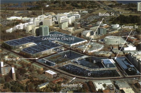 Map of the Canberra Centre Extension