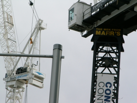 Cranes from Bovis Lend Leases and The Men From Marrs on Section 84