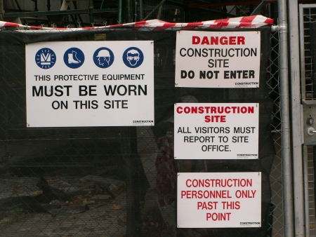 Signs on Section 84 Construction