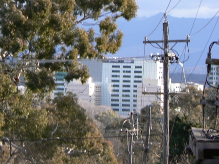 Underground Cabling building from Mount Ainslie in August 2006