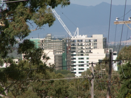 Under Construction Building as seen from Mount Ainslie