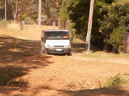 ActewAGL Van on Mount Ainslie