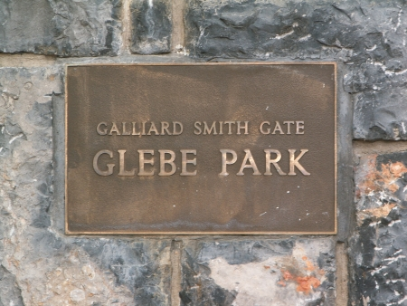 Glebe Park's Galliard Smith Gate