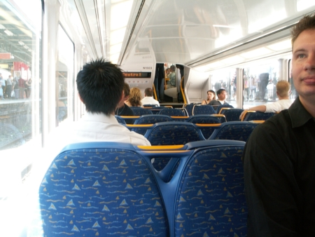 Inside a newish Sydney train