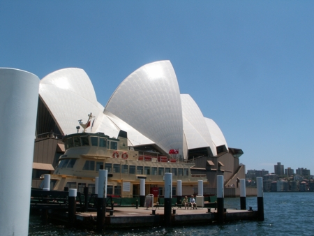 Sydney Opera House as seen from the Manor Wharf steps