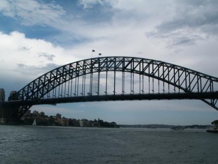 Sydney Harbour Bridge with Train