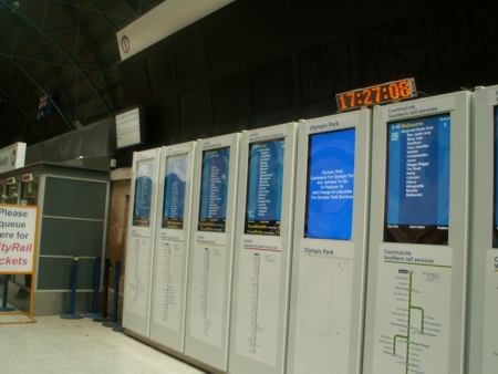 Sydney Rail Information Screens