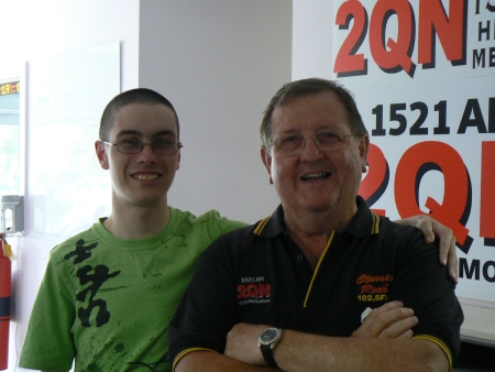 Samuel with Paul Dix on the 19th of December, 2008