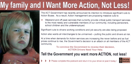 ACTION Postcard Front