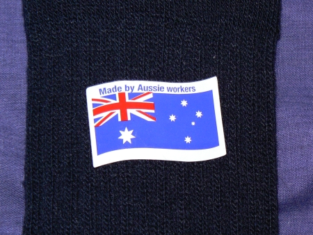 Sock made by Aussie workers