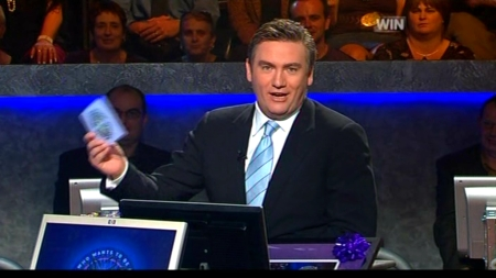Eddie McGuire runs through some Who Wants To Be A Millionaire statistics