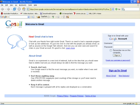 Gmail public signup