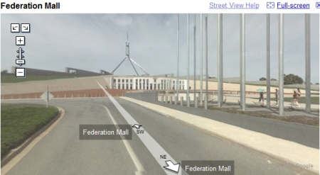 Google Street View in Canberra