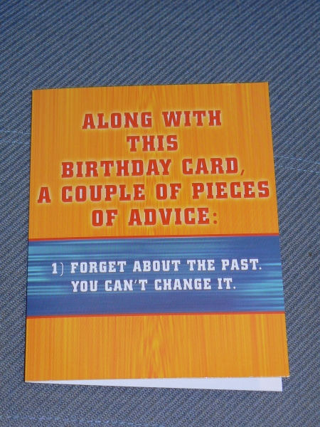 John Kerr's Birthday Card for Samuel's 20th Birthday