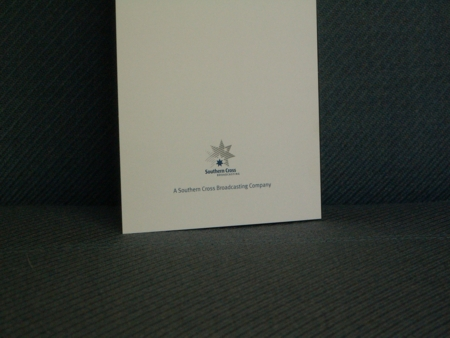 The back of John Kerr's 2UE Christmas Card