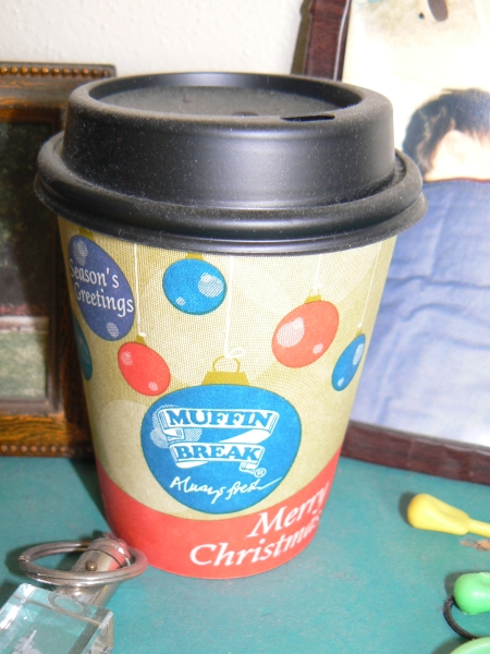 Muffin Break Christmas Coffee Cup from 2006