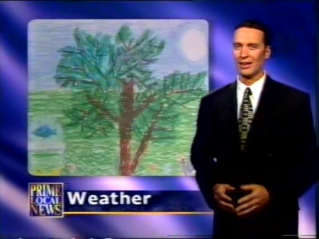 Daniel Gibson with Samuel's Weather Picture