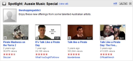 YouTube's Australian Pirates