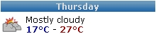 Mostly Cloudy 17-27