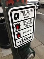 Pedestrian crossing instructions
