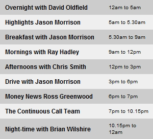 Jason Morrison still on Breakfast and Drive