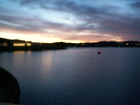 Lake Burley Griffin at sunrise