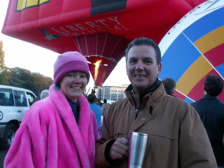 Mike Frame and Susan at the 2006 Canberra Balloon Fiesta