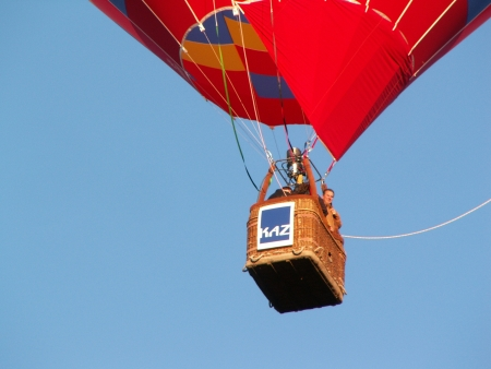 Mike Frame in the Doma Hotels Balloon at the 2006 Canberra Balloon Fiesta