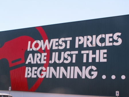 Lowest Prices Are Just The Beginning...