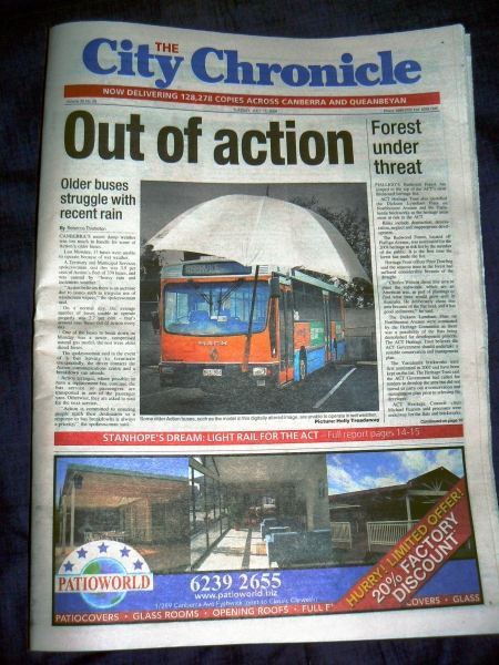 Front page of The City Chronicle - July 15 2008