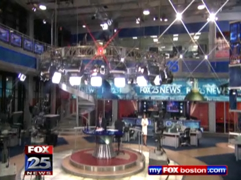 Set of FOX25 News Boston