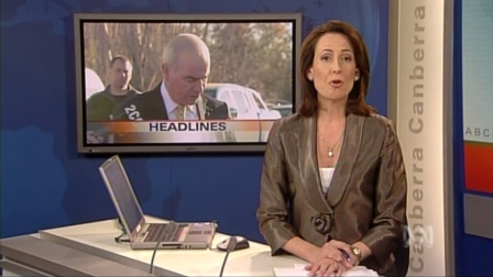 Virginia Haussegger on ABC TV News in Canberra