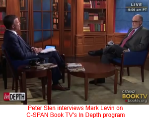 Peter Slen interviewing Mark Levin on C-SPAN Book TV's In Depth program