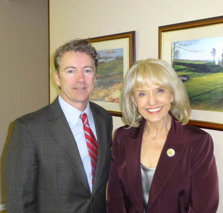 Rand Paul and Jan Brewer (image courtesy Jan Brewer's Facebook page)