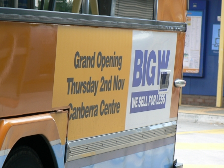 Big W Civic Grand Opening Bus Ad, October 2006