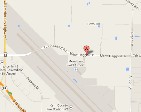 Map of Merle Haggard Drive, Bakersfield