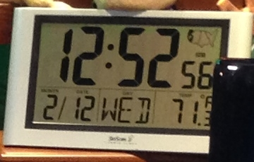 The clock in Leo Laporte's office