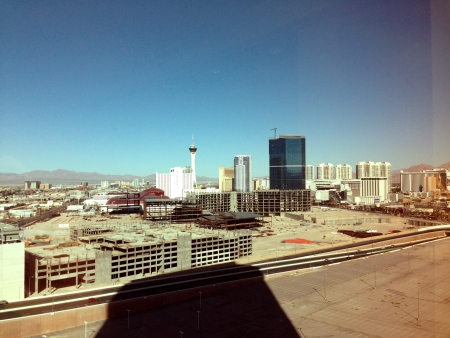 North-east view from the Trump Hotel, Las Vegas