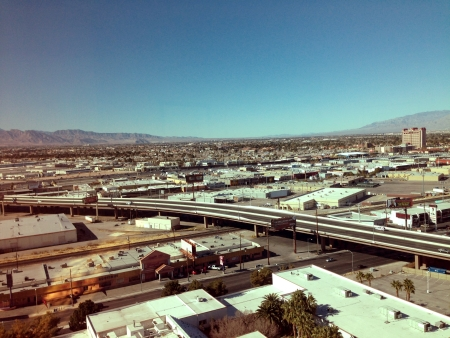 North-west view from the Trump Hotel, Las Vegas